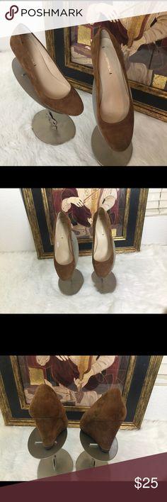 """Via Spiga Brown Wedge Suede Shoes.  Sz 9.5 Via Spiga brown wedge suede shoes.  Sz 9.5.  Wedge height 3"""". Very gently worn! Via Spiga Shoes Wedges"""