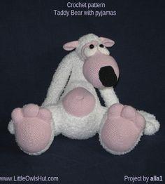 Teddy Bear Potapchik with pyjamas.crochet pattern