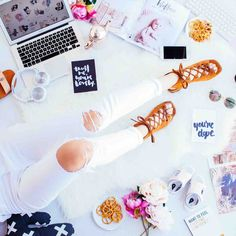 person wearing distressed white pants and brown suede lace-up sandals This image captures what working from home means to me. Earn Money From Home, Way To Make Money, Make Money Online, Foot Pics, Foot Pictures, Creating A Vision Board, Creating A Blog, Earn Extra Cash, Extra Money