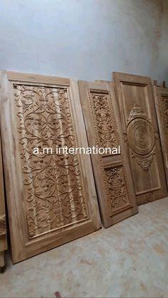 Main Entrance Door Design, Wooden Front Door Design, Wooden Front Doors, Pooja Room Door Design, Wall Decor Design, Ceiling Design, Wooden Sofa Set Designs, Interior Design Layout, House