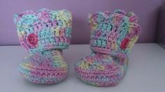 Baby Boots for my little niece - Pattern from the fb-group Haken en Haakpatronen