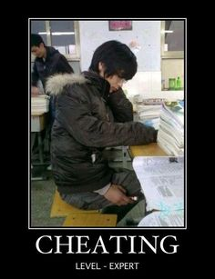 Cheating. Level: expert