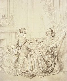 Comtesse Charles d'Agoult  by Jean Auguste Dominique Ingres