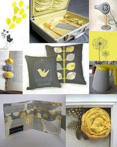 yellow, gray, and cream
