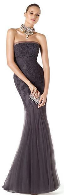 Strapless mother of the bride dress.