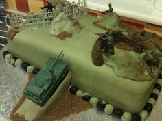 Army Birthday Party Cake and great ideas!