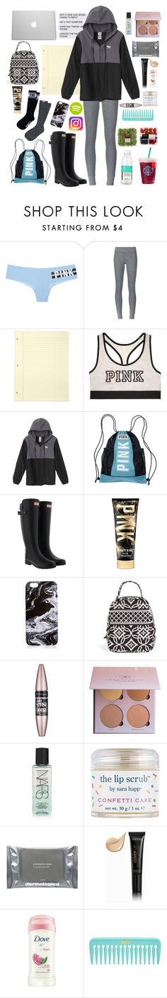 """Dark days of high school survival kit❤️"" by sophiakpink ❤ liked on Polyvore featuring Victoria's Secret, ATM by Anthony Thomas Melillo, Hunter, Vera Bradley, CO, Maybelline, NARS Cosmetics, Sara Happ, Dermalogica and Isadora"