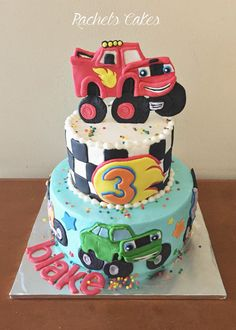 blaze and the monster machines cake