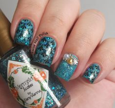 The Clockwise Nail Polish: DRK Nails Themes Mystic Ocean Stamping Plate Review
