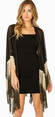 Add a little fringe in your life! This Kimono has your back!