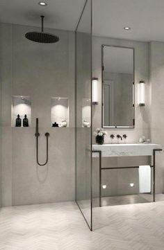 Modern Farmhouse, Rustic Modern, Classic, light and airy master bathroom design some ideas. Bathroom makeover ideas and bathroom renovation suggestions. Bad Inspiration, Bathroom Inspiration, Bathroom Ideas, Shower Ideas, Bathroom Hacks, Bathroom Updates, Bathroom Inspo, Budget Bathroom, Bathroom Layout