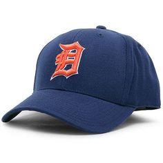 Detroit Tigers American Needle Cooperstown Historic Fitted Hat - Navy