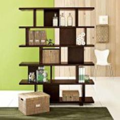 furniture of america aydan modern square walnut bookshelf/room