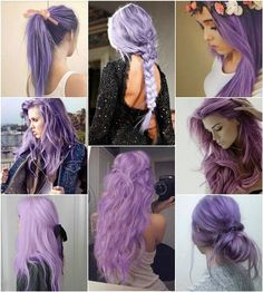 I don't think I'd fully dye my hair any exotic colors, but this color's cute!
