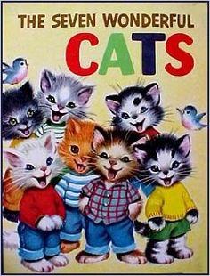 """Vintage LGB: """"The Seven Wonderful Cats!"""" Art by Elizabeth Webbe/ Marjorie Cooper"""