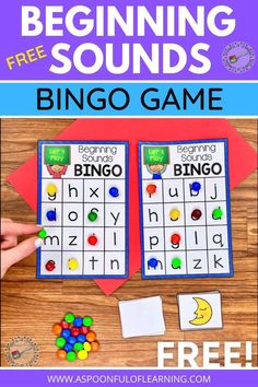 Let's play a beginning sounds game and for FREE!! This beginning sounds game is just like BINGO! Choose a card, say the picture name, and cover the matching beginning sound letter on your bingo card. The first person to get 4 beginning sound letters in a row wins! Have students cover the letters with M&M's to enjoy at the end! I also included a CVC words game! The game is played the same except students are covering the picture on their bingo cards that match the CVC words.