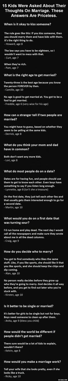 15 Kids Get Asked About Marriage. #12 Is Gold. | DailyFailCenter