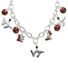 Virginia Tech Hokies Bauble Charm Necklace Sports Team Ac…