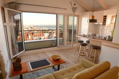 Complete rooftop apartment renovation in Lisbon - Estrela Apartment Renovation, Apartment Interior, Holiday Apartments, Timeless Design, Rooftop, Diva, Windows, Lisbon, Ideas