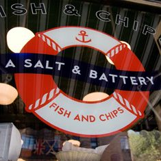A Salt and Battery ~ I was OFTEN here when in Grad school.  The best fish and chips in New York.
