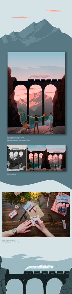 Travel broadens the minds on Behance
