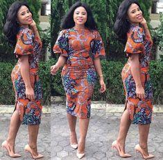Latest Ankara Dresses 2018 Ideas For African Attire Latest Ankara Dresses, Ankara Short Gown Styles, Latest African Fashion Dresses, African Dresses For Women, African Print Dresses, African Print Fashion, Africa Fashion, African Attire, African Wear