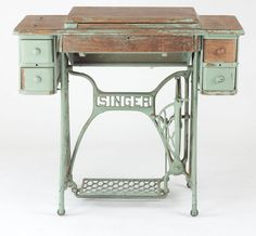 A table like this would be PERFECT for my sewing area... Especially since my machine will no doubt break anything that isn't hard wood or cast iron...