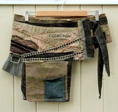 One of a kind Hip pouch / Utility waist bag ONE by KayLim Hip Purse, Belt Purse, Hip Bag, Sewing Clothes, Diy Clothes, Fashion Bags, Boho Fashion, Waist Pouch, Boho Bags