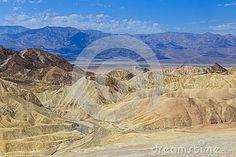 Badlands, Death Valley National Park, USA as seen from Zabriskie Point.