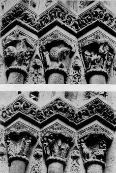 Capiteles Porta del Palau lado izquierdo