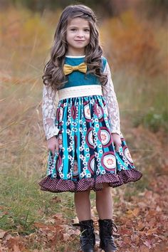 Persnickety Clothing Into The Woods Lexi Dress in Teal Fall 2015 Delivery 2