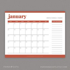 Calendars & To Do Lists Editable Daily Weekly and by paperandoats