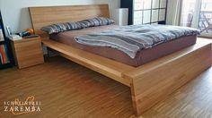 Eiche Massivholz Bett und Nachttisch (Schreinerei-Zaremba, Frechen)