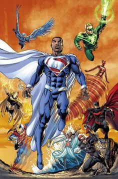 """Just read a Michael B. Jordan as Superman rumor. and I actually talked about him a lot when we created the Superman of Earth Val-Zod. (Still love this costume). Marvel Dc Comics, Hq Marvel, Dc Comics Art, Comics Und Cartoons, Comics Anime, Comic Book Heroes, Comic Books Art, Comic Art, Val Zod"