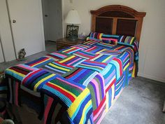 Cathy's Knitted Bedspread | Flickr - Photo Sharing!