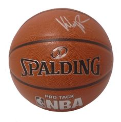 Klay Thompson Autographed Spalding NBA Indoor / Outdoor Basketball, Proof
