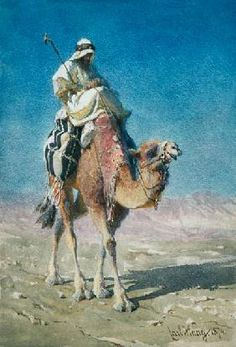 Haag Carl - A Bedaween on a Camel's Back