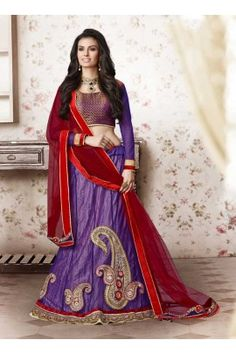 weding designer  purple coloured lehanaga-3747