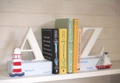 A to Z Nautical Bookends