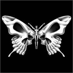 Skull Butterfly Women's T-shirt  This would be cool as a tattoo, but with the caterpillar body.