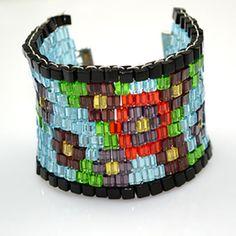 Beaded Cuff Bloom Bracelet
