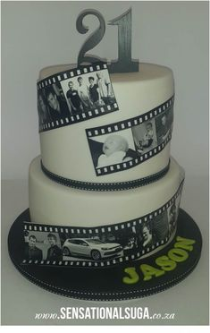21st Film Strip Cake