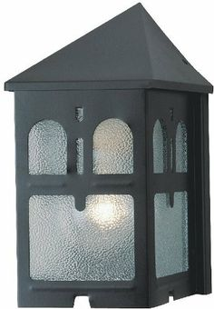 1-light Outdoor Wall Lantern Black 66814 by Westinghouse. $12.99. Enjoy coming home and seeing your new Westinghouse 1-Light Outdoor Wall Lantern brightening your way. Features textured glass that adds a richness and quality of light that can usually only be found with more expensive fixtures. 1 x 100 Watt A-19 Medium Base bulb or 1 x 60 Watt Torpedo bulb (not included). Save 71%!