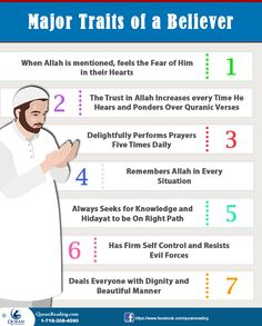 Major Personality Traits Of The Believers In Islam #islam