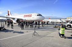 making of blog info photoshoot #Swiss #SnowTeam #Weltmeister photography by janeski.ch #emosan #Sponsoring  #Wärmewäsche #Niderwärmer Aircraft, Abs, World, Vehicles, Blog, Image, Plane, The World, Aviation