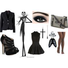 Jack Skellington Female Halloween Costume Idea