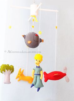 Story MobileThe Little Prince No.2 by AContinualLullaby on Etsy, $99.00
