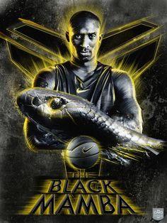 "Poster ""The Black Mamba"" by Caroline Blanchet, via Behance Kobe Bryant Michael Jordan, Kobe Bryant 8, Kobe Bryant Family, Lakers Kobe Bryant, Dojo, Kobe Lebron, Lebron James, Best Nba Players, Kobe Mamba"