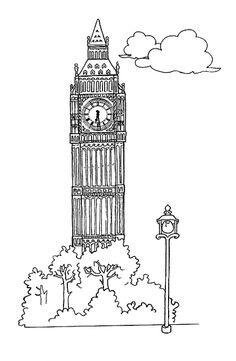 Big Ben Wall painting idea