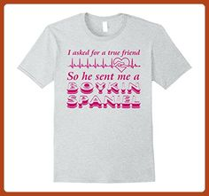 Mens Boykin Spaniel shirt | True Friend Boykin Spaniel Dog T shir Medium Heather Grey - Animal shirts (*Partner-Link)